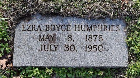 HUMPHRIES, EZRA BOYCE - Caldwell County, Louisiana | EZRA BOYCE HUMPHRIES - Louisiana Gravestone Photos