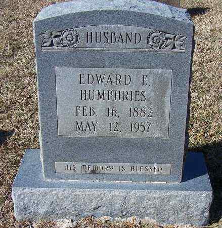 HUMPHRIES, EDWARD E - Caldwell County, Louisiana | EDWARD E HUMPHRIES - Louisiana Gravestone Photos