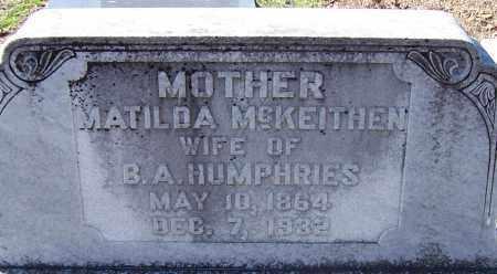 HUMPHRIES, MATILDA - Caldwell County, Louisiana   MATILDA HUMPHRIES - Louisiana Gravestone Photos