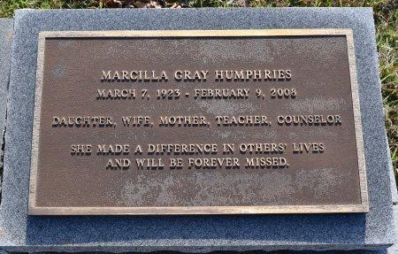 GRAY HUMPHRIES, MARCILLA - Caldwell County, Louisiana | MARCILLA GRAY HUMPHRIES - Louisiana Gravestone Photos