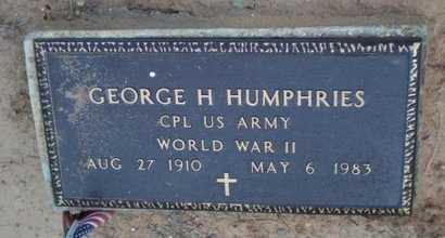 HUMPHRIES, GEORGE H (VETERAN WWII) - Caldwell County, Louisiana | GEORGE H (VETERAN WWII) HUMPHRIES - Louisiana Gravestone Photos