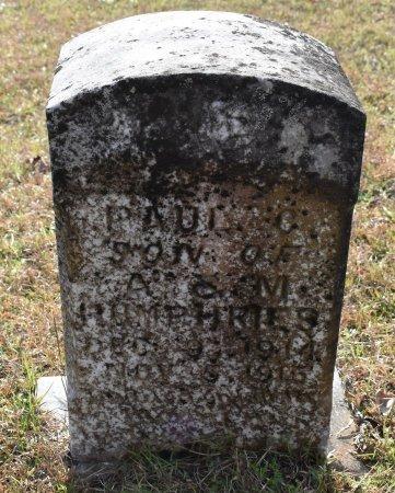 HUMPHRIES, PAUL C - Caldwell County, Louisiana | PAUL C HUMPHRIES - Louisiana Gravestone Photos