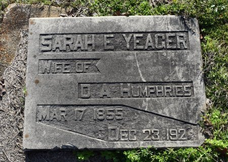 HUMPHRIES, SARAH E - Caldwell County, Louisiana | SARAH E HUMPHRIES - Louisiana Gravestone Photos