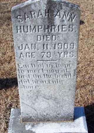 HUMPHRIES, SARAH ANN - Caldwell County, Louisiana | SARAH ANN HUMPHRIES - Louisiana Gravestone Photos