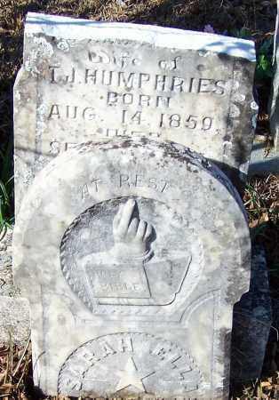 HUMPHRIES, SARAH ELLA (TOP) - Caldwell County, Louisiana | SARAH ELLA (TOP) HUMPHRIES - Louisiana Gravestone Photos
