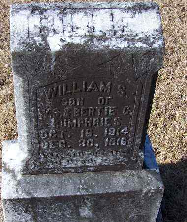 HUMPHRIES, WILLIAM S - Caldwell County, Louisiana | WILLIAM S HUMPHRIES - Louisiana Gravestone Photos