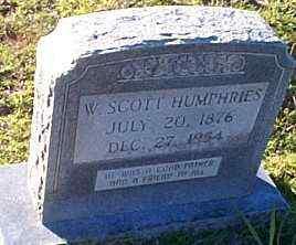 HUMPHRIES, W SCOTT - Caldwell County, Louisiana | W SCOTT HUMPHRIES - Louisiana Gravestone Photos