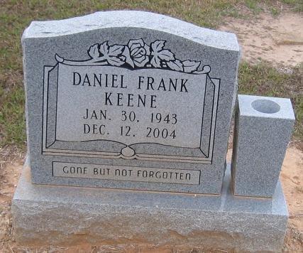 KEENE, DANIEL FRANK - Caldwell County, Louisiana | DANIEL FRANK KEENE - Louisiana Gravestone Photos