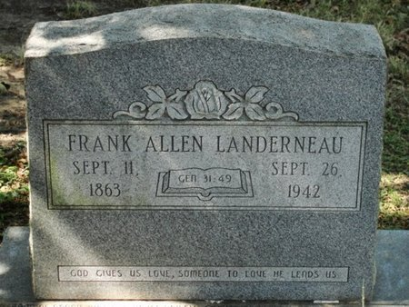 LANDERNEAU, FRANK ALLEN - Caldwell County, Louisiana   FRANK ALLEN LANDERNEAU - Louisiana Gravestone Photos