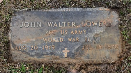 LOWERY, JOHN WALTER (VETERAN WWII) - Caldwell County, Louisiana | JOHN WALTER (VETERAN WWII) LOWERY - Louisiana Gravestone Photos