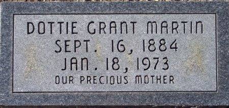 GRANT MARTIN, DOTTIE - Caldwell County, Louisiana   DOTTIE GRANT MARTIN - Louisiana Gravestone Photos