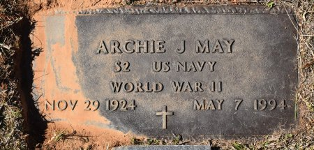 MAY, ARCHIE J (VETERAN WWII) - Caldwell County, Louisiana   ARCHIE J (VETERAN WWII) MAY - Louisiana Gravestone Photos