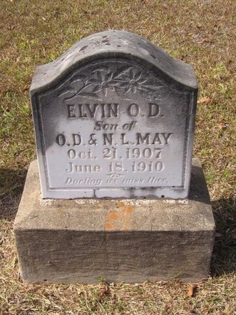 MAY, ELVIN O D - Caldwell County, Louisiana | ELVIN O D MAY - Louisiana Gravestone Photos