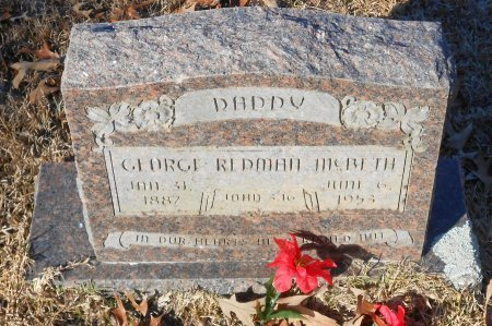 MCBETH, GEORGE REDMAN - Caldwell County, Louisiana | GEORGE REDMAN MCBETH - Louisiana Gravestone Photos