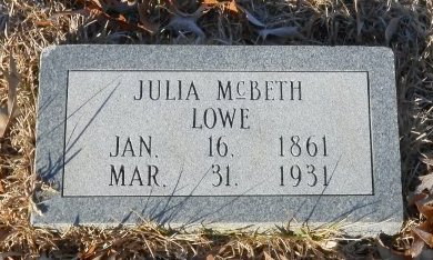 TAYLOR MCBETH, JULIA - Caldwell County, Louisiana | JULIA TAYLOR MCBETH - Louisiana Gravestone Photos