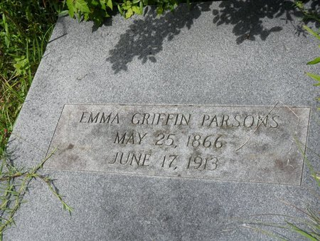 GRIFFIN PARSONS, EMMA - Caldwell County, Louisiana | EMMA GRIFFIN PARSONS - Louisiana Gravestone Photos