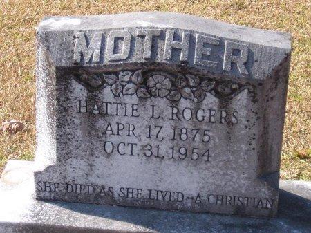 ROGERS, HATTIE LUCINDA - Caldwell County, Louisiana | HATTIE LUCINDA ROGERS - Louisiana Gravestone Photos
