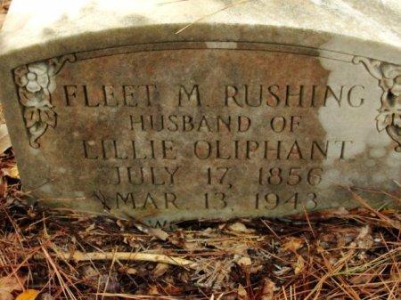 RUSHING, FLEET M - Caldwell County, Louisiana | FLEET M RUSHING - Louisiana Gravestone Photos