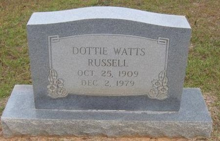 RUSSELL, DOTTIE - Caldwell County, Louisiana | DOTTIE RUSSELL - Louisiana Gravestone Photos