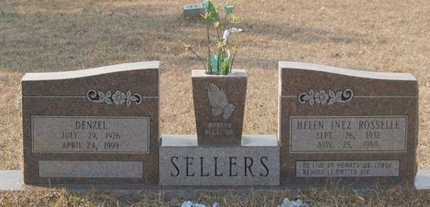 SELLERS, HELEN INEZ - Caldwell County, Louisiana | HELEN INEZ SELLERS - Louisiana Gravestone Photos