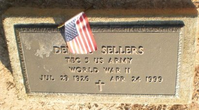 SELLERS, DENZEL (VETERAN WWII) - Caldwell County, Louisiana | DENZEL (VETERAN WWII) SELLERS - Louisiana Gravestone Photos
