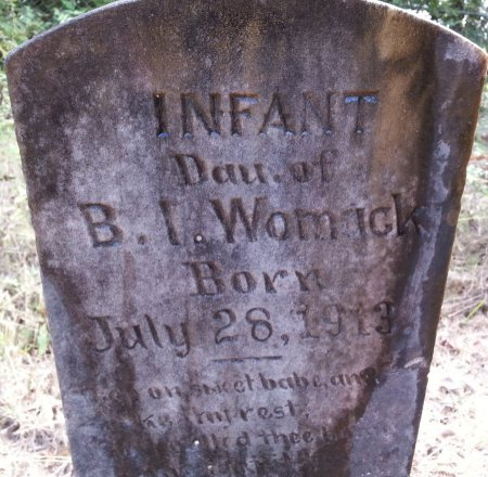 WOMACK, INFANT DAUGHTER - Caldwell County, Louisiana | INFANT DAUGHTER WOMACK - Louisiana Gravestone Photos