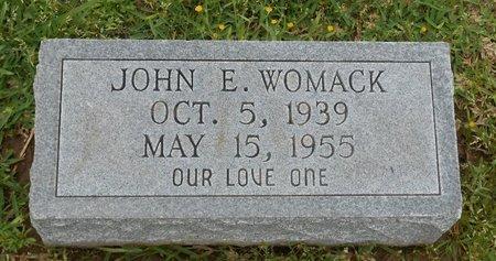 WOMACK, JOHN E - Caldwell County, Louisiana | JOHN E WOMACK - Louisiana Gravestone Photos