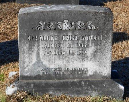 CRUSE WYCOFF, GERALDINE - Caldwell County, Louisiana | GERALDINE CRUSE WYCOFF - Louisiana Gravestone Photos