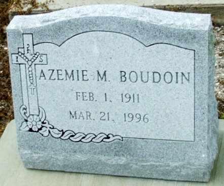 BOUDOIN, AZEMIE M - Cameron County, Louisiana | AZEMIE M BOUDOIN - Louisiana Gravestone Photos