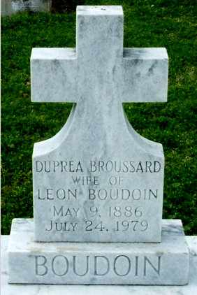BROUSSARD BOUDOIN, DUPREA - Cameron County, Louisiana   DUPREA BROUSSARD BOUDOIN - Louisiana Gravestone Photos