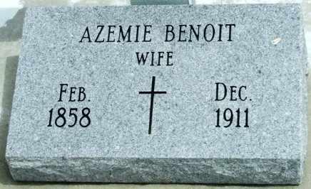 BENOIT BROUSSARD, AZEMIE - Cameron County, Louisiana | AZEMIE BENOIT BROUSSARD - Louisiana Gravestone Photos