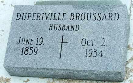 BROUSSARD, DUPERIVILLE - Cameron County, Louisiana | DUPERIVILLE BROUSSARD - Louisiana Gravestone Photos