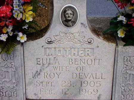 DEVALL, EULA - Cameron County, Louisiana | EULA DEVALL - Louisiana Gravestone Photos