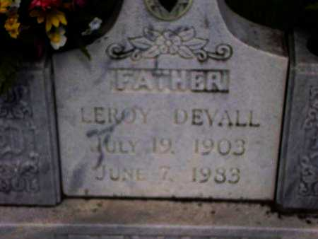 DEVALL, LEROY - Cameron County, Louisiana   LEROY DEVALL - Louisiana Gravestone Photos