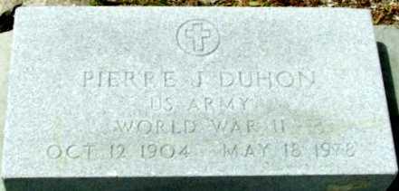 DUHON, PIERRE J (VETERAN WWII) - Cameron County, Louisiana | PIERRE J (VETERAN WWII) DUHON - Louisiana Gravestone Photos