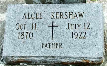 KERSHAW, ALCEE - Cameron County, Louisiana | ALCEE KERSHAW - Louisiana Gravestone Photos