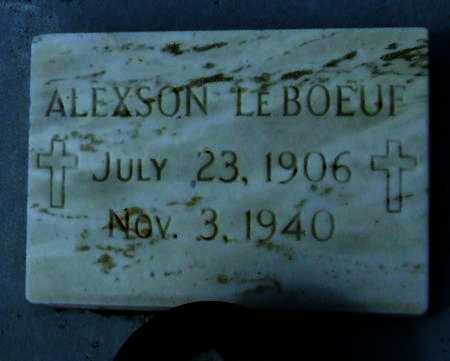 LEBOEUF, ALEXSON - Cameron County, Louisiana | ALEXSON LEBOEUF - Louisiana Gravestone Photos