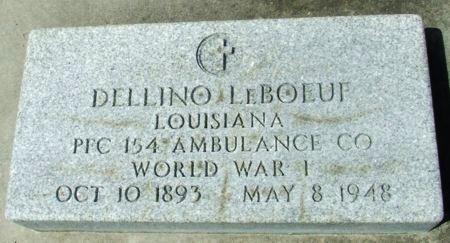 LEBOEUF, DELLINO  (VETERAN WWI) - Cameron County, Louisiana | DELLINO  (VETERAN WWI) LEBOEUF - Louisiana Gravestone Photos