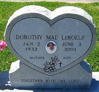 LEBOEUF, DOROTHY MAE  (CLOSEUP) - Cameron County, Louisiana | DOROTHY MAE  (CLOSEUP) LEBOEUF - Louisiana Gravestone Photos
