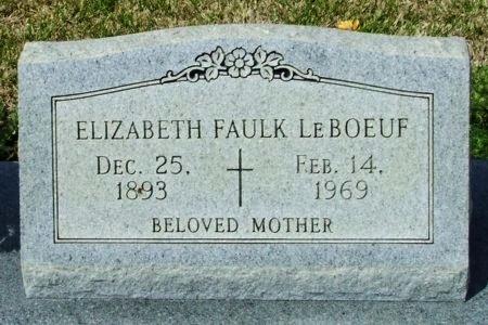 LEBOEUF, ELIZABETH - Cameron County, Louisiana | ELIZABETH LEBOEUF - Louisiana Gravestone Photos