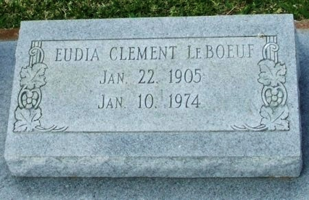 LEBOEUF, EUDIA - Cameron County, Louisiana | EUDIA LEBOEUF - Louisiana Gravestone Photos