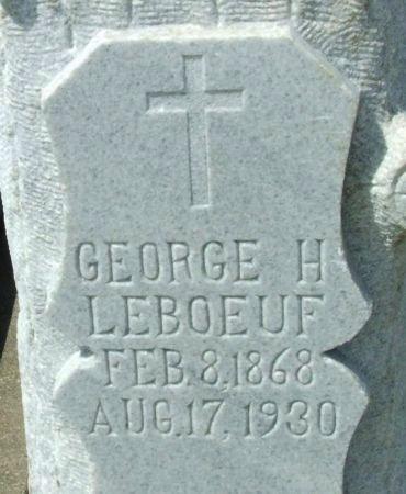LEBOEUF, GEORGE H (CLOSEUP) - Cameron County, Louisiana | GEORGE H (CLOSEUP) LEBOEUF - Louisiana Gravestone Photos