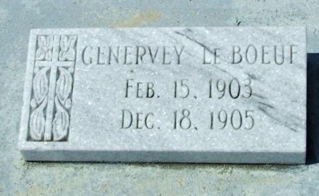 LEBOEUF, GENERVEY - Cameron County, Louisiana   GENERVEY LEBOEUF - Louisiana Gravestone Photos