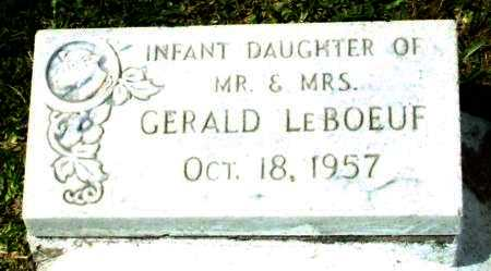 LEBOEUF, INFANT DAUGHTER - Cameron County, Louisiana | INFANT DAUGHTER LEBOEUF - Louisiana Gravestone Photos