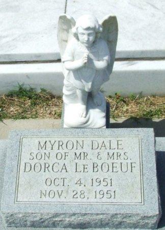 LEBOEUF, MYRON DALE - Cameron County, Louisiana   MYRON DALE LEBOEUF - Louisiana Gravestone Photos