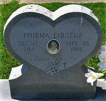 LEBOEUF, PHIRMA  (CLOSEUP) - Cameron County, Louisiana | PHIRMA  (CLOSEUP) LEBOEUF - Louisiana Gravestone Photos