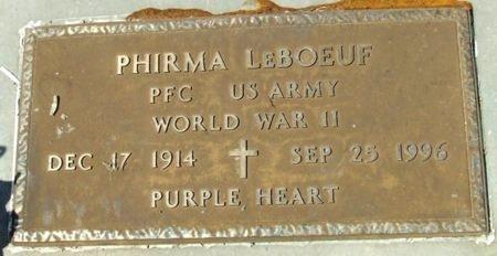 LEBOEUF, PHIRMA  (VETERAN WWII) - Cameron County, Louisiana   PHIRMA  (VETERAN WWII) LEBOEUF - Louisiana Gravestone Photos