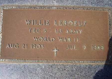 LEBOEUF, WILLIE  (VETERAN WWII) - Cameron County, Louisiana   WILLIE  (VETERAN WWII) LEBOEUF - Louisiana Gravestone Photos