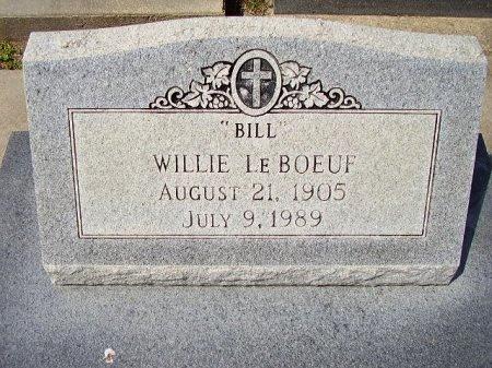 "LEBOEUF, WILLIE  ""BILL"" - Cameron County, Louisiana | WILLIE  ""BILL"" LEBOEUF - Louisiana Gravestone Photos"