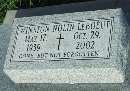 LEBOEUF, WINSTON NOLIN - Cameron County, Louisiana   WINSTON NOLIN LEBOEUF - Louisiana Gravestone Photos
